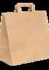 пакеты из крафта с плоскими ручками, печать на крафт пакетах, пакеты из крафт бумаги с плоскими ручками