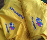 корпоративные футболки, футболки с логотипом, печать на футболках