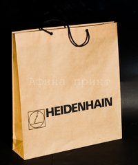 шелкография на крафте,коричневый крафт,печать логотипа на пакете