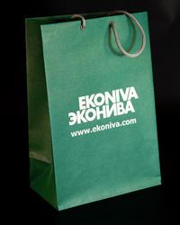 бумажные пакеты эфалин, пакеты с логотипом из эфалина, трафаретная печать логотипа на бумажном пакете из эфалина, пакет из эфалина, эфалин
