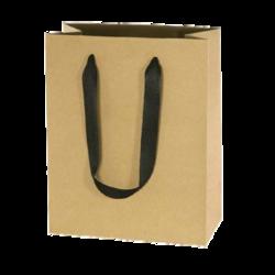 бумажные крафт пакеты, коричневая крафт бумага для пакетов, атласная лента на пакете из крафта, крафт пакеты, пакеты из крафта с логотипом, печать на крафт пакетах