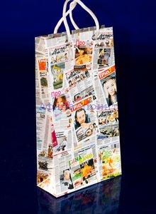 бумажный пакет, глянцевая ламинация, печать логотипа на пакете