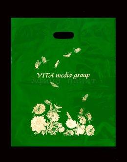 пакет ПВД с вырубной ручкой, изготовление пакетов пвд с логотипом,реклама на пвд пакетах