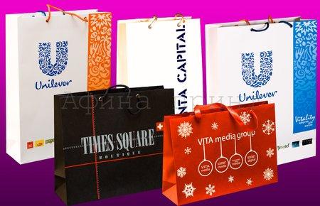 Бумажные пакеты с логотипом, пакеты бумажные, логотип на пакете