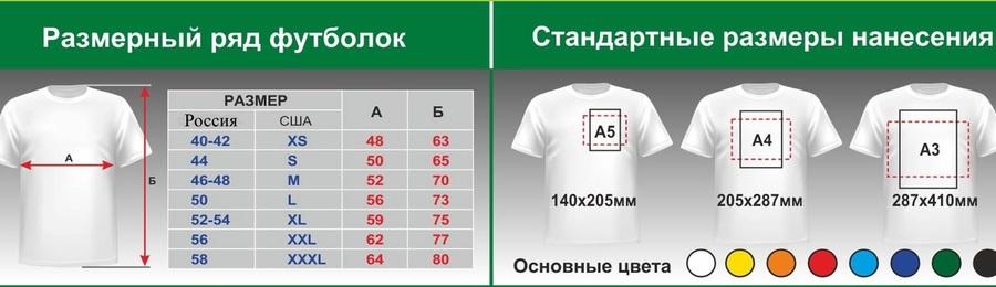 футболки с логотипом,нанесение логотипа на футболки,шелкография на футболках,размерный ряд на футболках